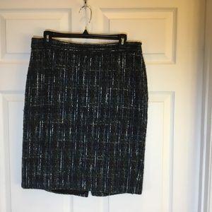 J. Jill Pencil Skirt w/ Side Zipper and Back Slit